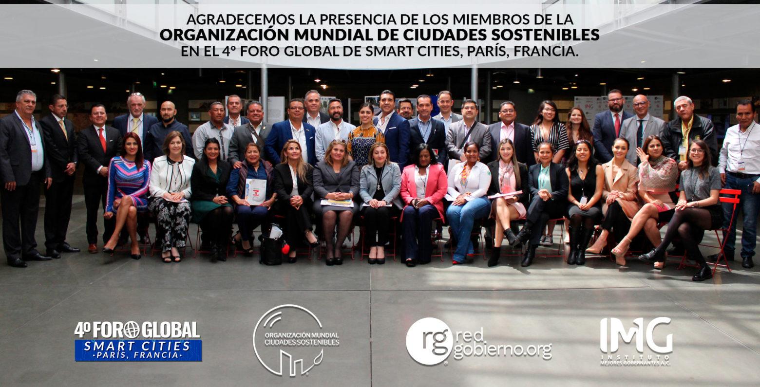 Embajadores de la Organizacion Mundial Ciudades Sostenibles presentes en el 4º Foro Global Smart Cities París, Francia 2019
